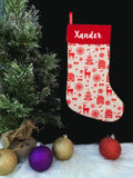 Personalised Jute Christmas Stocking - Christmas 2019