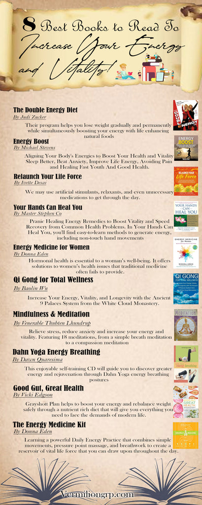 Best Books to Read to Learn To Increase Your Energy and Vitality