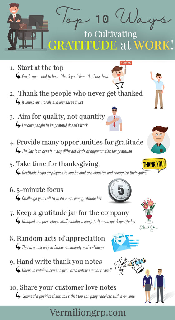 How to Cultivate Gratitude at Work