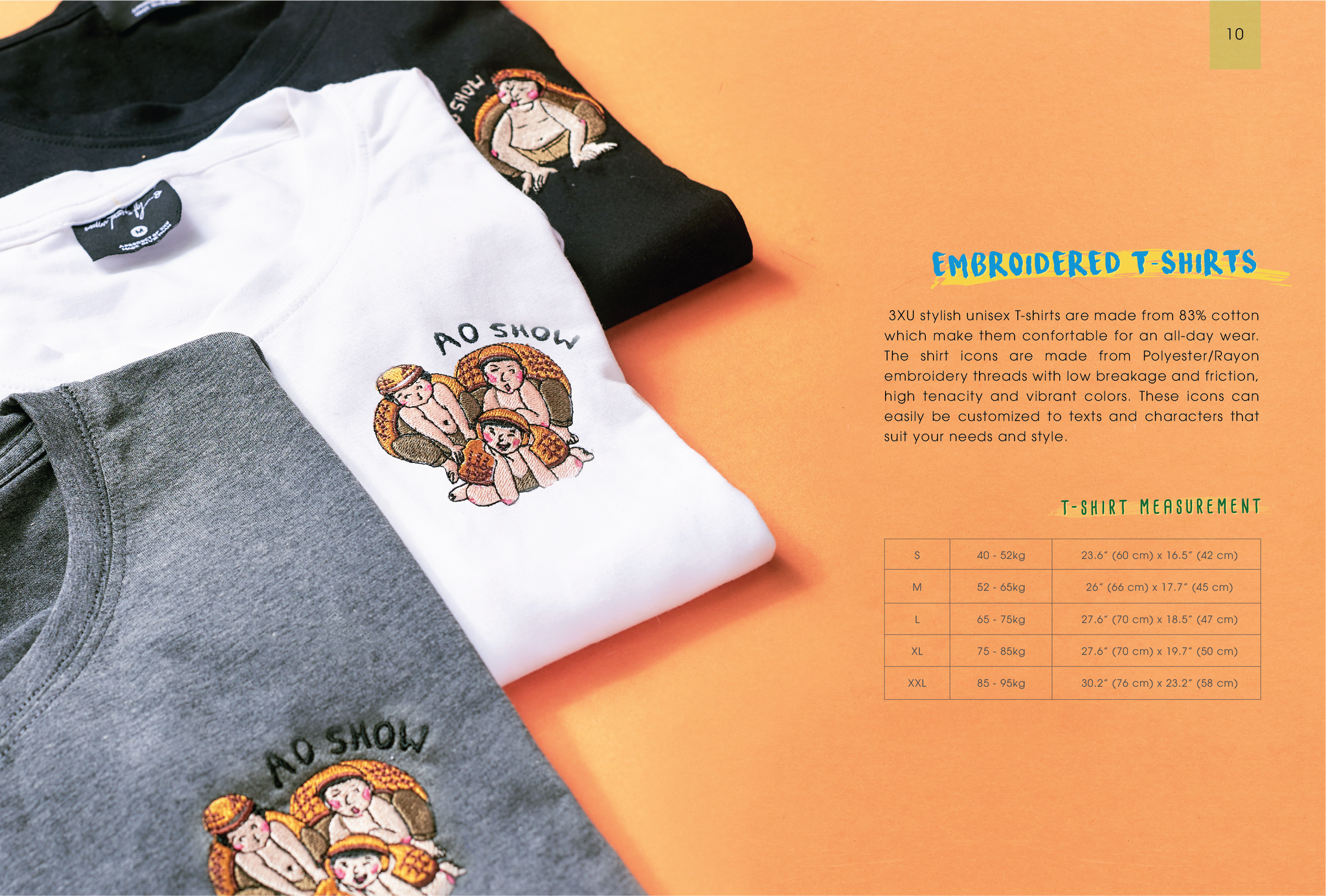 Branded Embroidered T-shirts for small start-up business