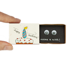 "BD009 - ""Make a wish"" Birthday Cake Candle Matchbox"