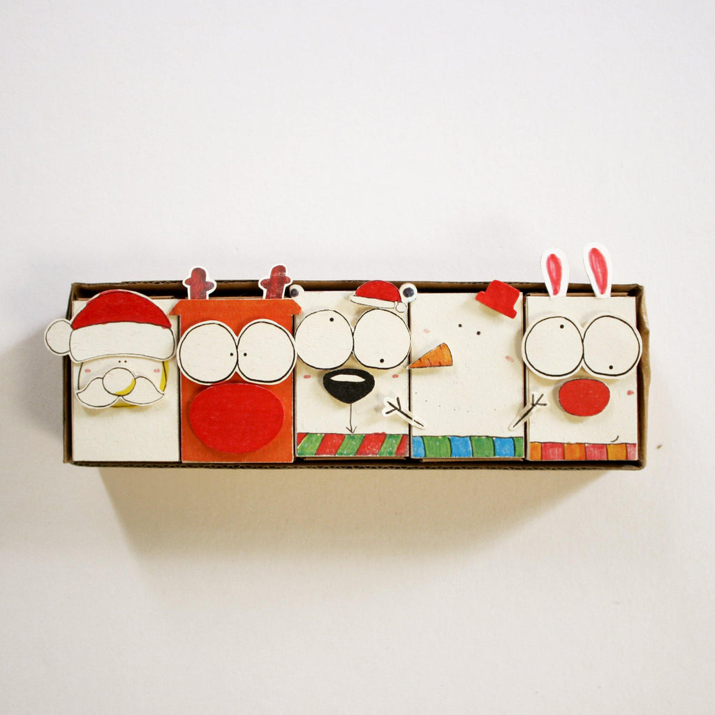 DY002 - Vintage DIY Christmas Matchbox Set