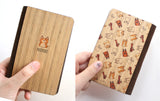PC022 - Handmade Wooden Passport Cover - Puppy