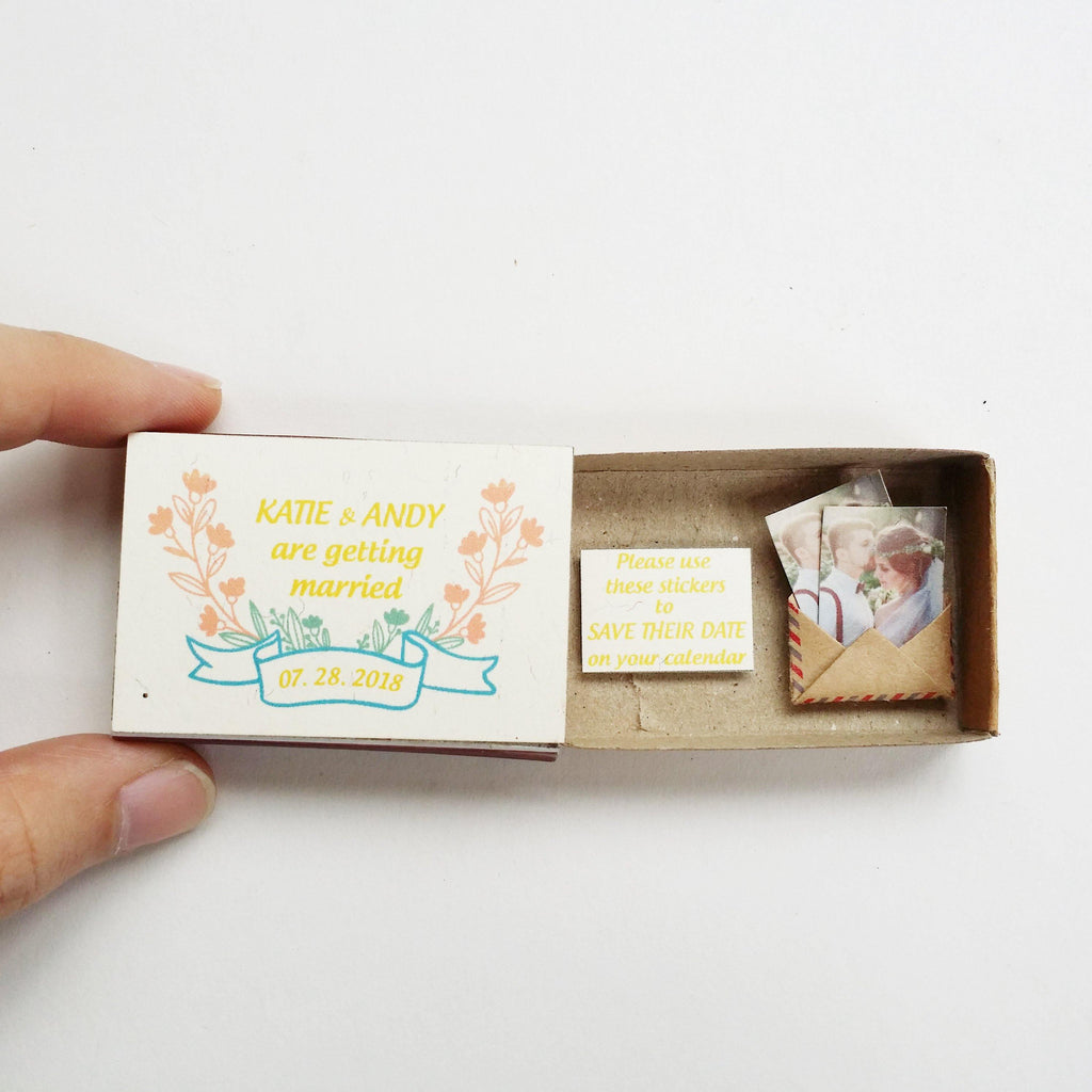 Matchbox Wedding Invitation 'Save the date' - WD006