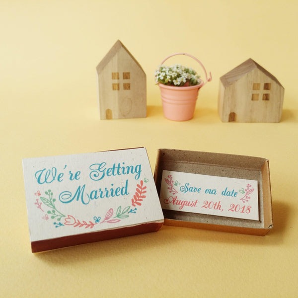 Matchbox Wedding Invitation 'We're getting married' - WD005