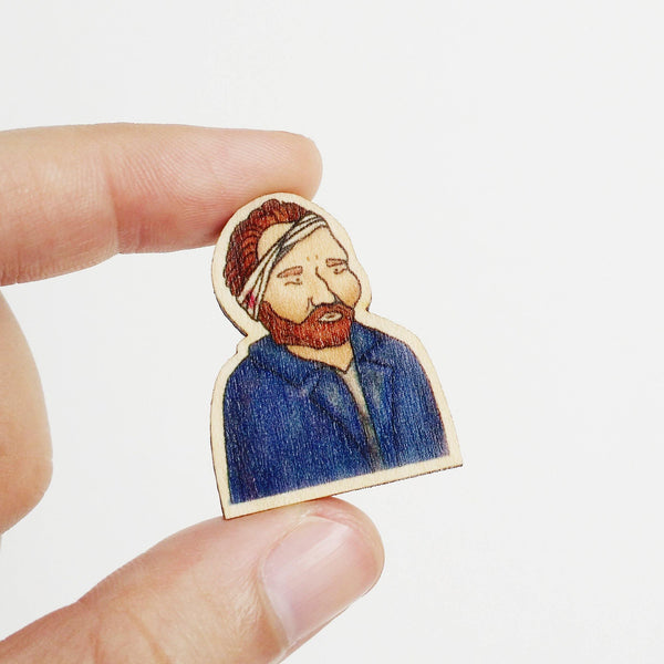 Vincent Van Gogh Wooden Pin - PS017