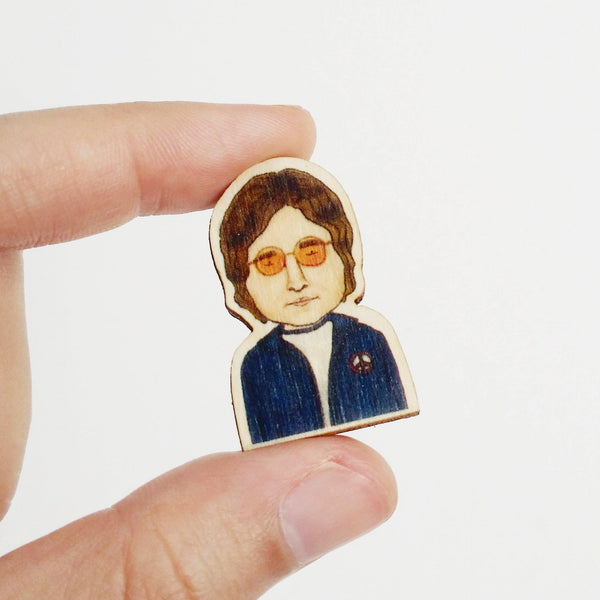 John Lennon Wooden Pin - PS021