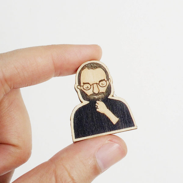Steve Jobs Wooden Pin - PS015