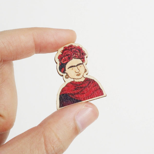 Frida Kahlo Wooden Pin - PS006