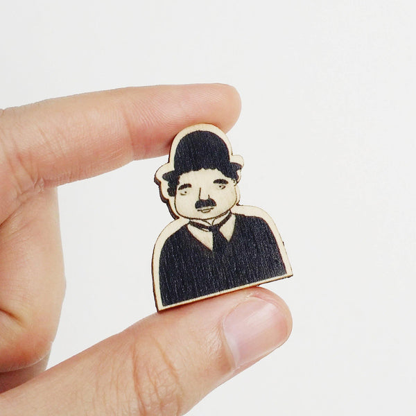 Charlie Chaplin Wooden Pin - PS004