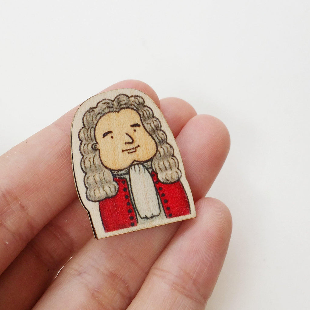 Isaac Newton Wooden Pin - PS009