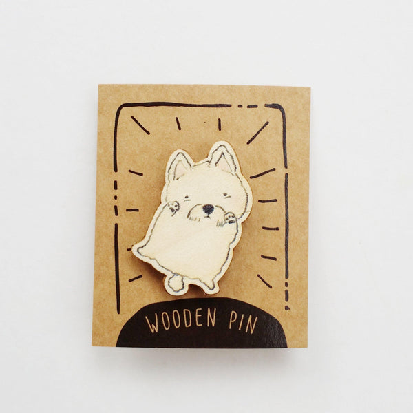 Schnauzer Dog Wooden Pin - PN029