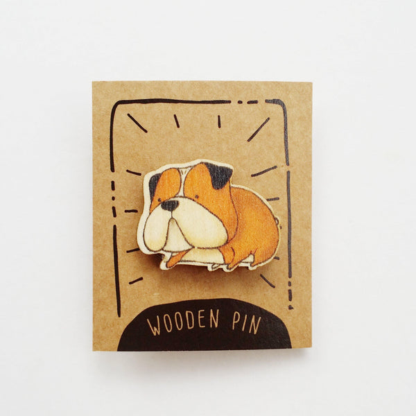 Bulldog Wooden Pin - PN021