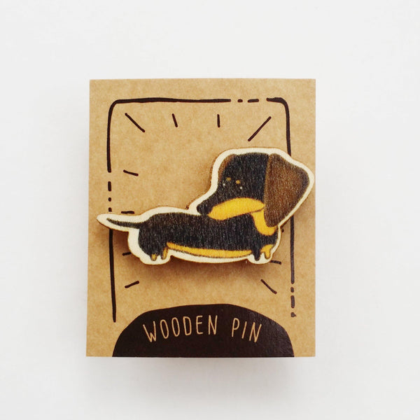 Dachshund / Sausage Dog Wooden Pin - PN027