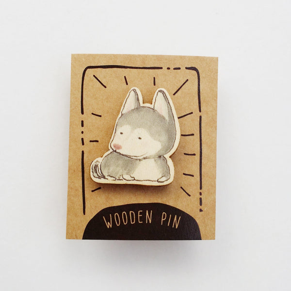 Husky Dog Wooden Pin - PN023