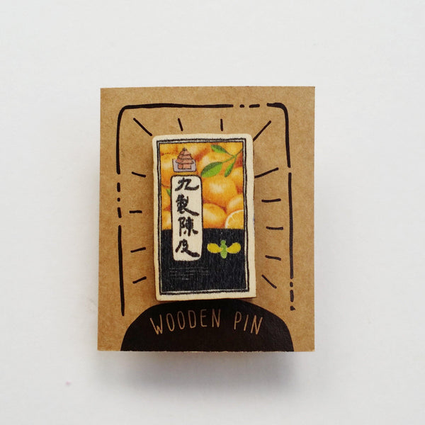 Salted Plum Candy Wooden Pin - PN044