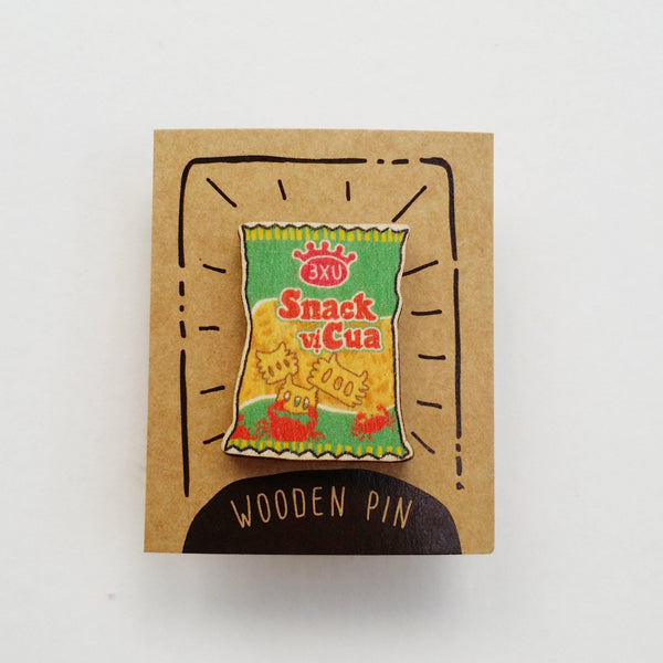 Crab Snack Wooden Pin - PN032