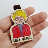 Andy Warhol Magnetic Wooden Bookmark - BO024