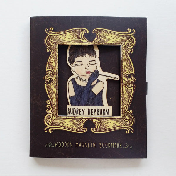 Audrey Hepburn Magnetic Wooden Bookmark - BO020