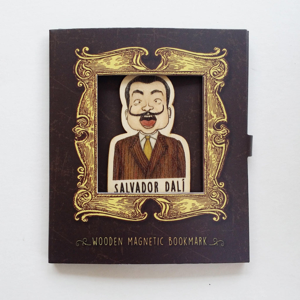Salvador Dali Magnetic Wooden Bookmark - BO023