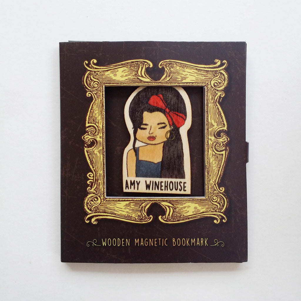 Amy Winehouse Magnetic Wooden Bookmark - BO019