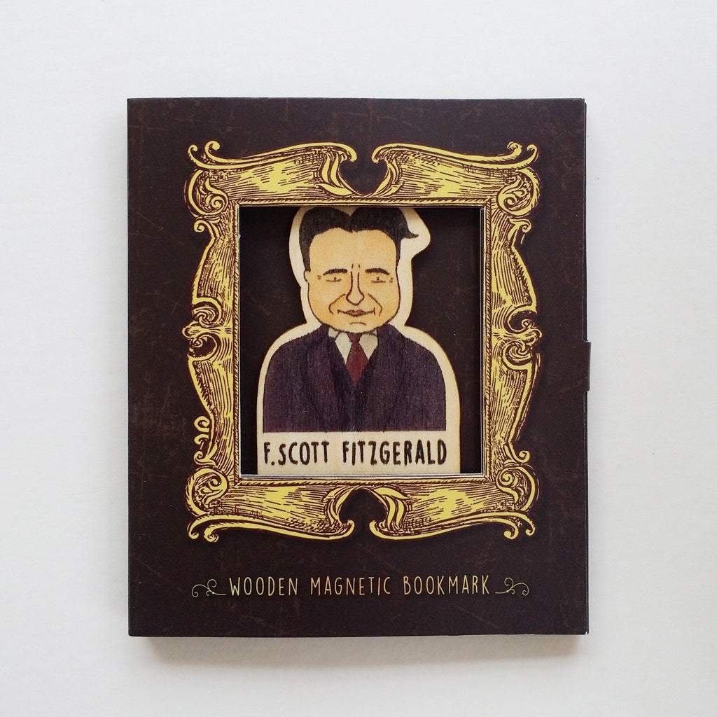 F.Scott Fitzgerald Magnetic Wooden Bookmark - BO027