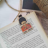 George Harrison The Beatles Magnetic Wooden Bookmark - BO028