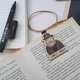 Charles Darwin Magnetic Wooden Bookmark - BO025
