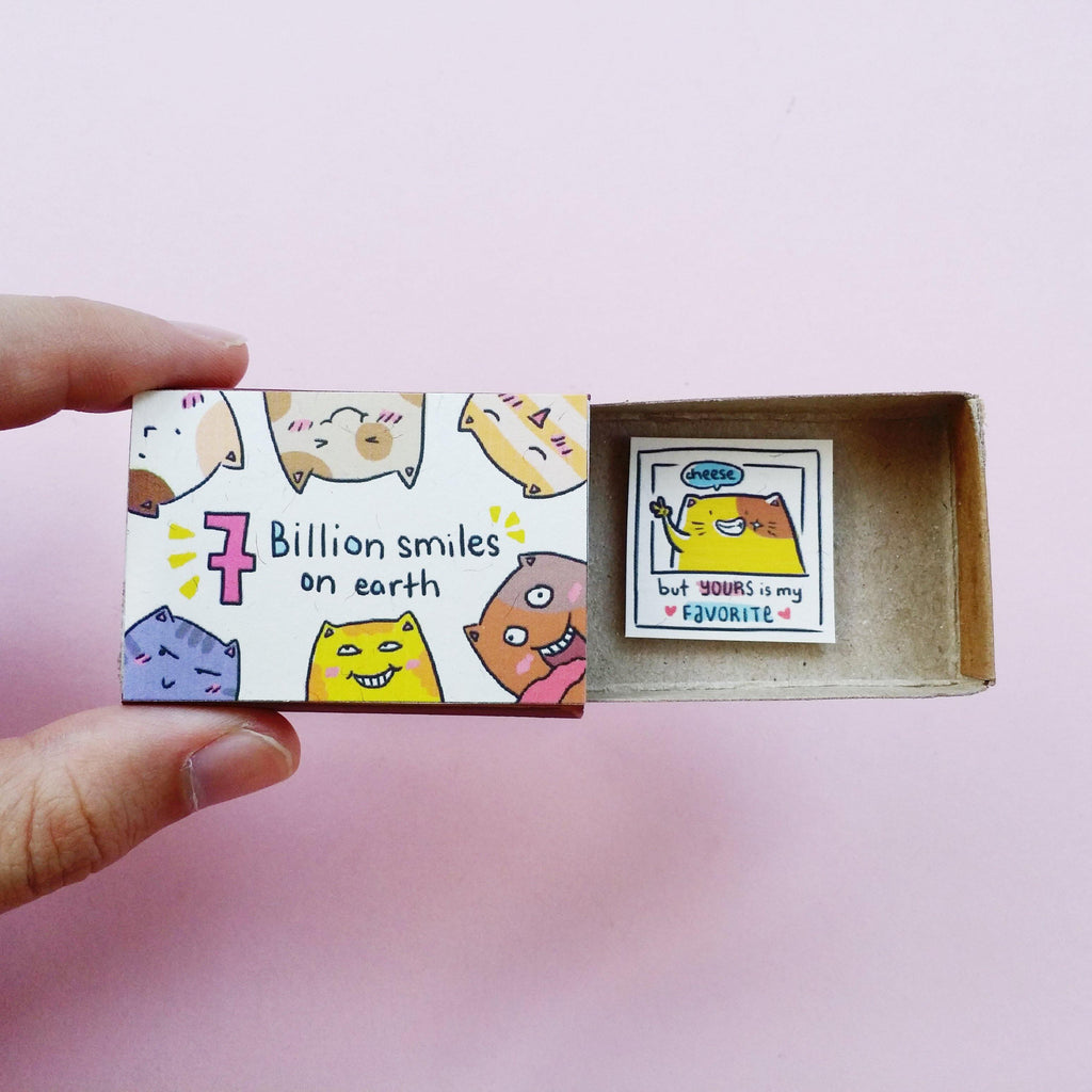 "Matchbox card  ""7 billion smiles on Earth"" - LV129"
