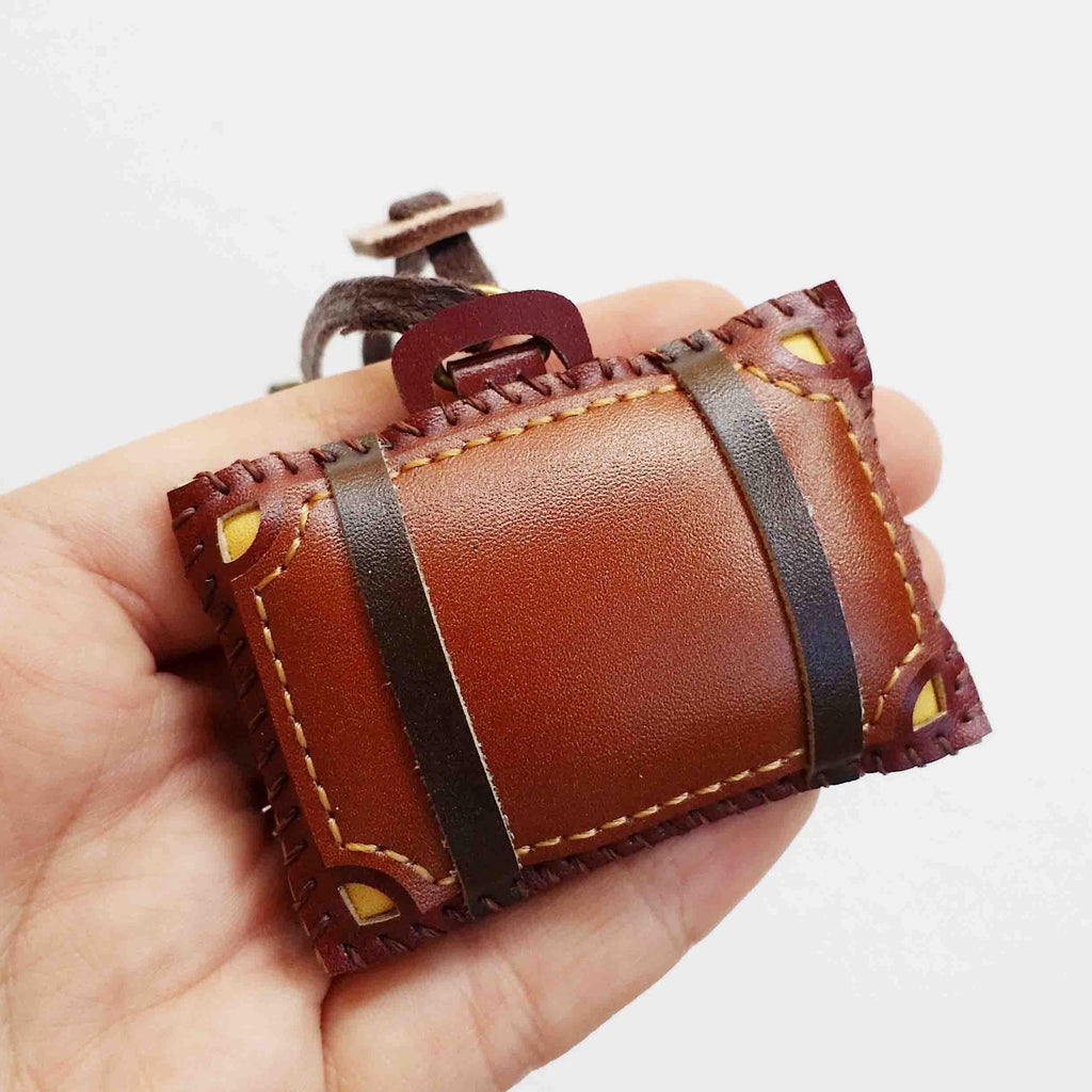 Mini Leather Suitcase Leather Charm - PT052