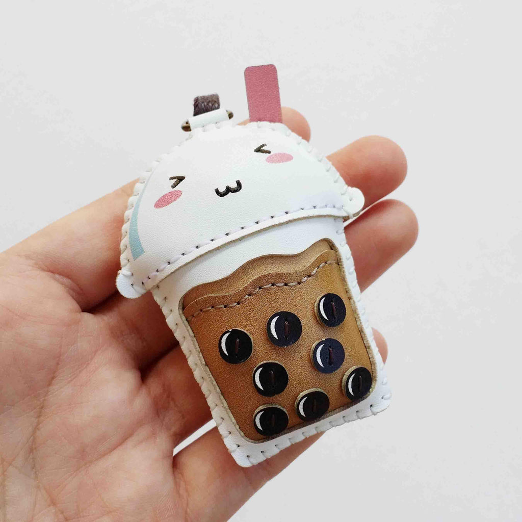 Bubble Milk Tea Leather Charm - PT049
