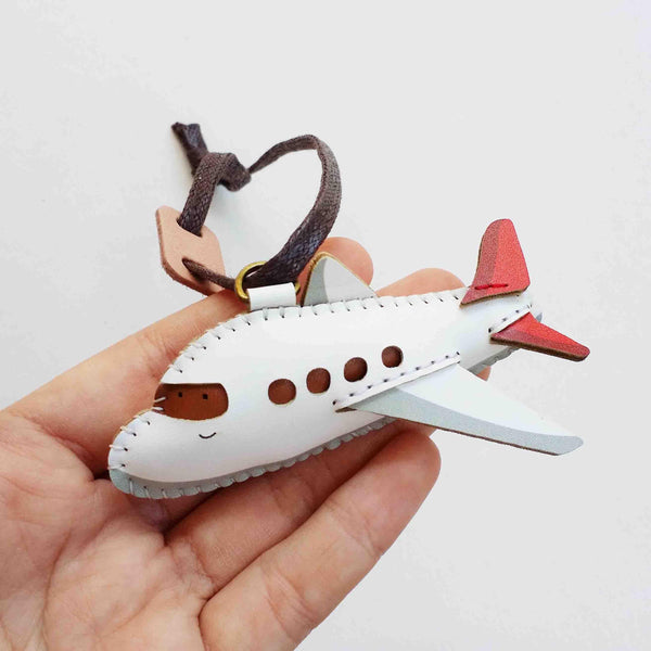 Airplane Leather Charm - PT056