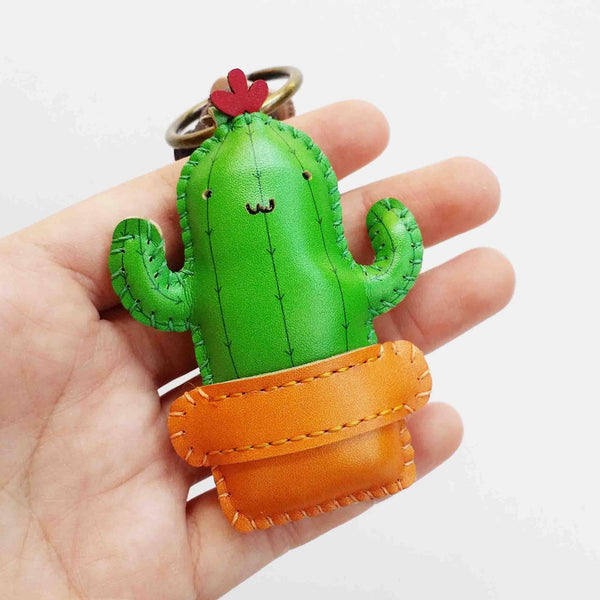 Cactus Leather Charm - PT046