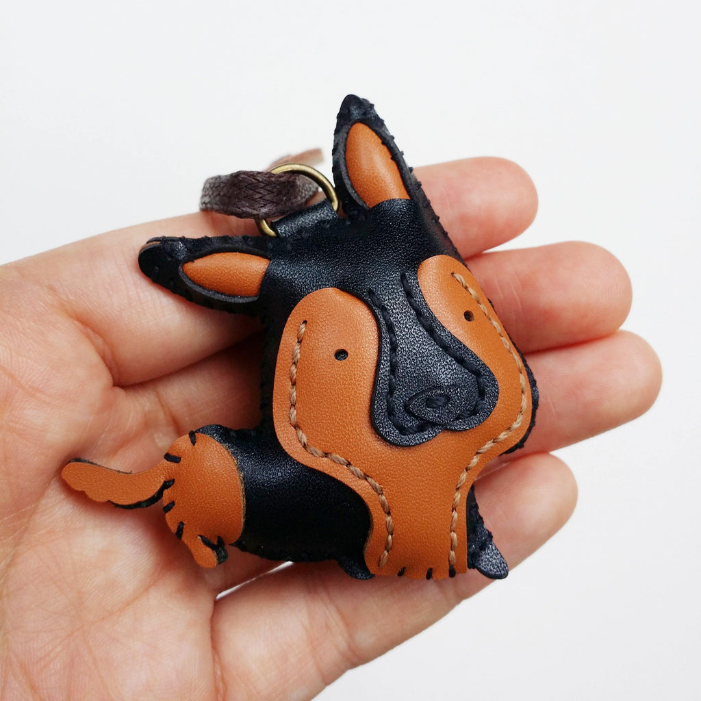 German Shepherd Dog Leather Charm - PT020