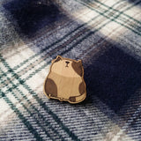 Brown Cat Wooden Pin - PN011