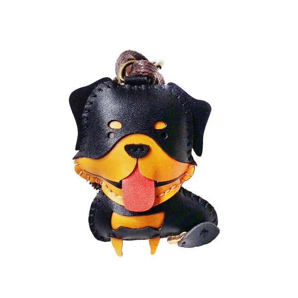 Rottweiler Leather Charm - PT079