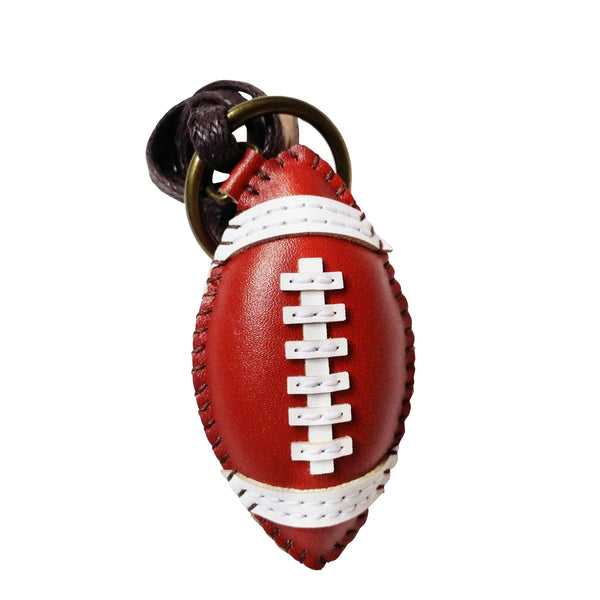 American Football Leather Charm - PT080