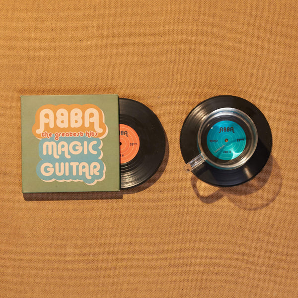 Vinyl Record Coasters, Set of 2, ABBA: Magic Guitars - CS004