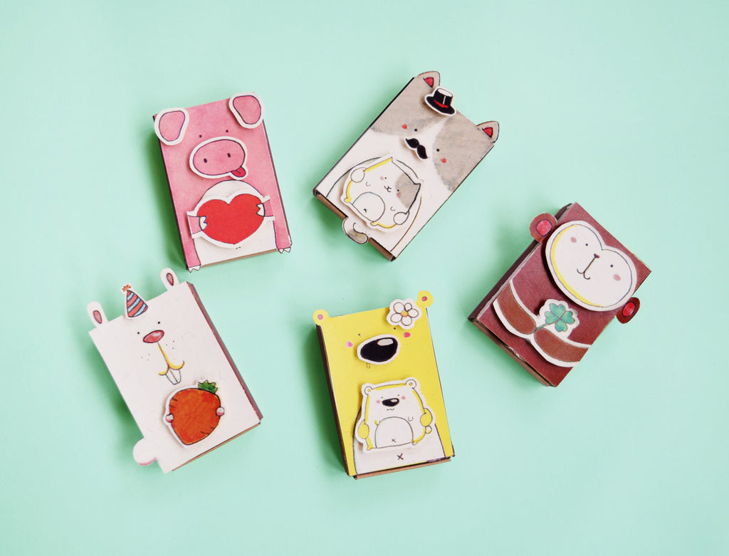 DY005 - DIY Matchbox Animal Set