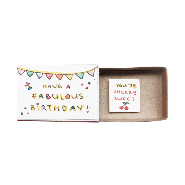 "BD024 - Cute Birthday Matchbox ""You're Cherry Sweet"""