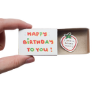 "BD026 - ""I have you Berry much"" Happy Birthday Matchbox Card"