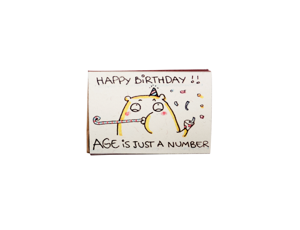 "BD030 - ""Age is just a number"" Happy Birthday Greeting Card - shop3xu"