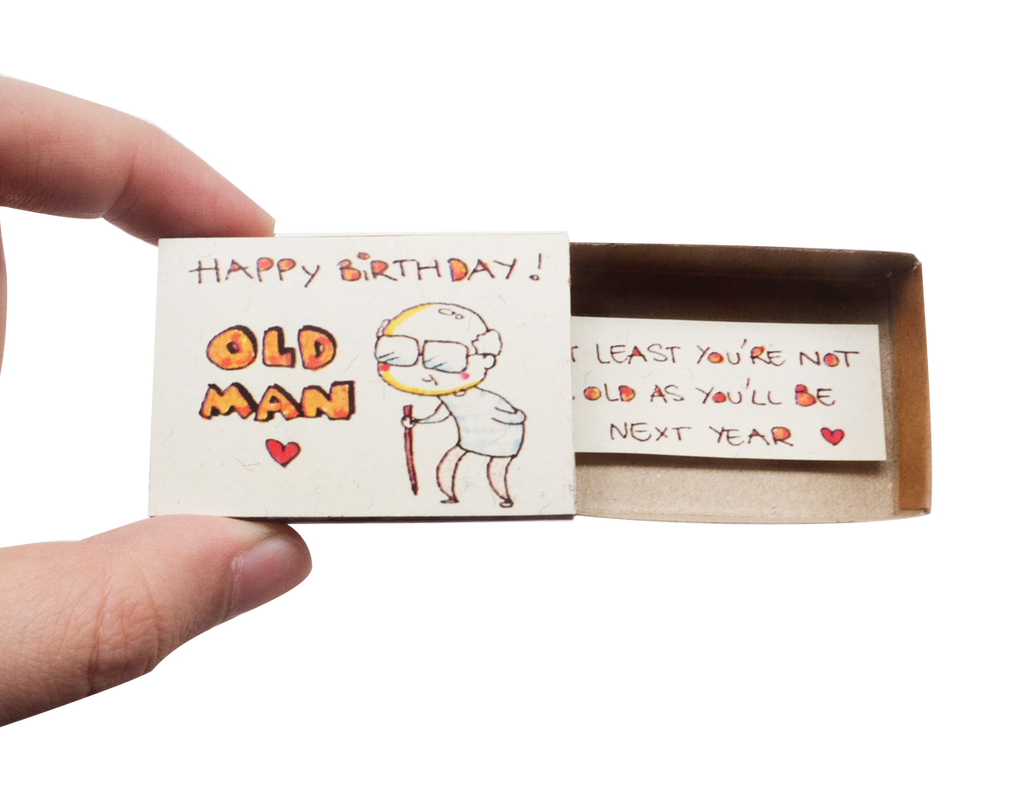 "BD032 - ""Happy birthday old man - At least you're not as old as you'll be next year"" Happy Birthday Greeting Card - shop3xu"