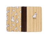 PC008 - Handmade Wooden Passport Cover - Llama