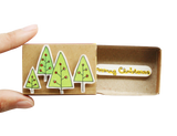 CM004 - Christmas Tree Matchbox Card