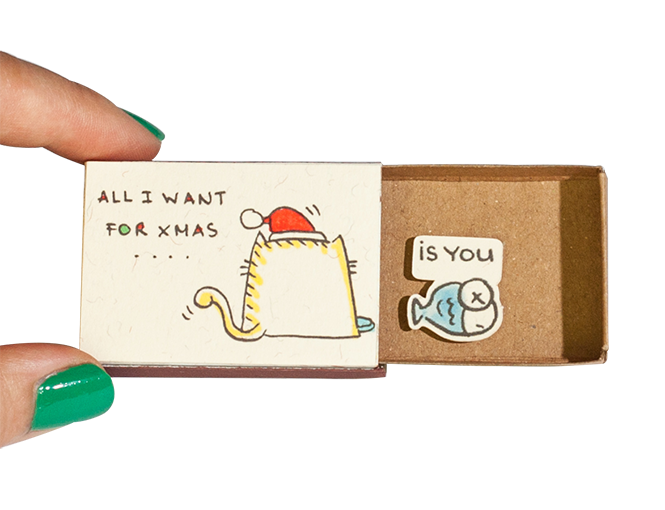 CM023 - All I want for xmas is you Cat and Fish - shop3xu