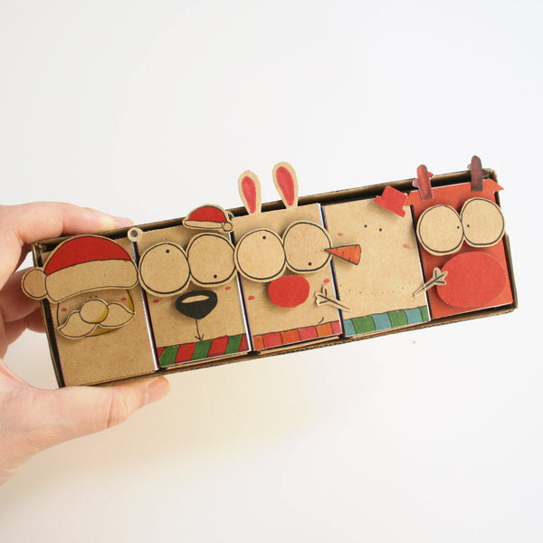 DY001 - Vintage DIY Christmas Matchbox Set