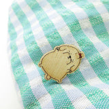 Maltese Dog Wooden Pin - PN024