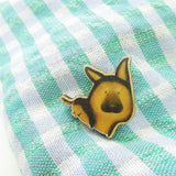 German Shepherd Dog Wooden Pin - PN020