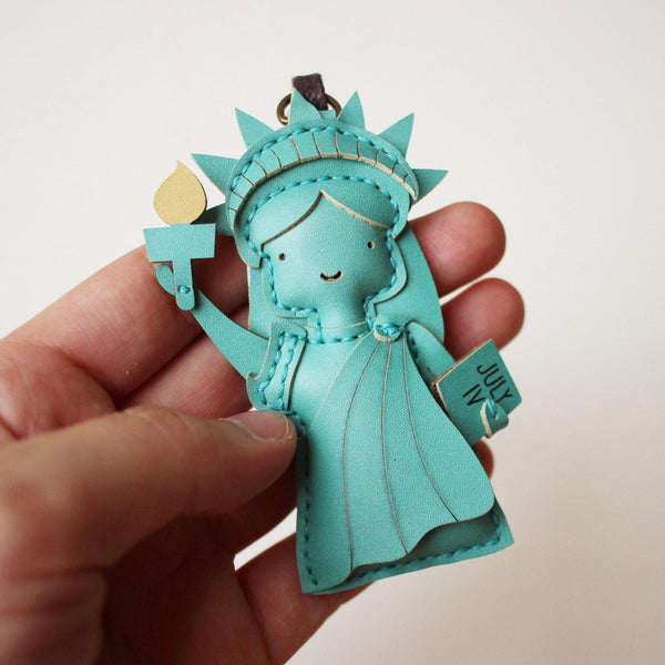 Statue of Liberty Leather Charm - PT074